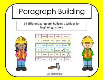 Paragraph Building - 24 Manipulative Paragraph Puzzles