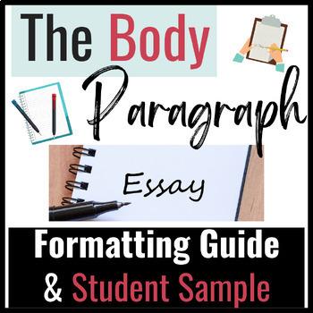 Essay Writing & Literary Analysis Paragraph Format