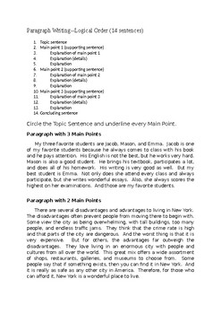 Paragraph Organization & Logical Order