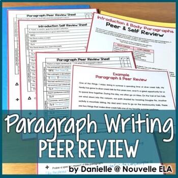 Paragraph Peer and Self Review Worksheets - Sample Review