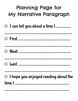 Paragraph Planning Pages