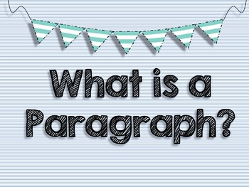 Paragraph Posters FREEBIE