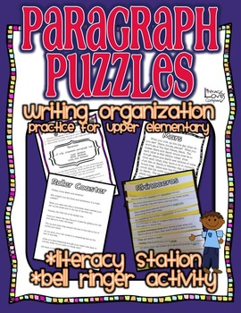 Paragraph Puzzles {Upper Elementary}