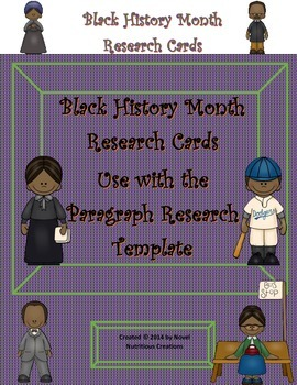Paragraph Research - Black History Month Research Cards