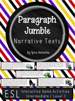 Narrative Texts Paragraph Sequencing
