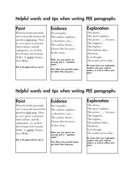 PEE(L) Paragraph Structure