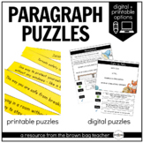 Paragraph Structure Puzzles: 1st & 2nd Grade Writing