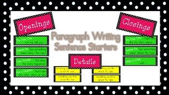Paragraph Writing (Polka dot)