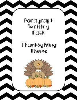 Paragraph Writing- Thanksgiving Theme