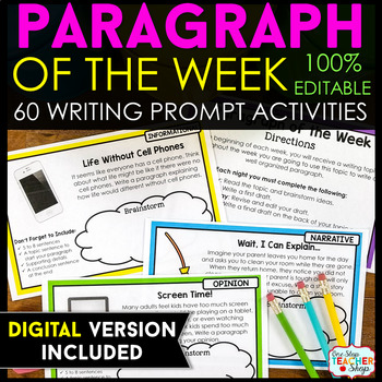 Paragraph of the Week - Paragraph Writing Practice with Writing Prompts