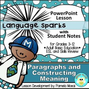 Paragraphs and Constructing Meaning PowerPoint and Student