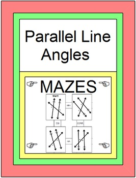 Parallel Line Angles - 3 MAZES on Identifying Angle Pairs