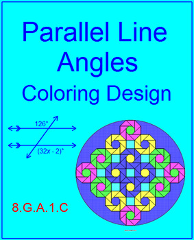 Parallel Line Angles - Coloring Design