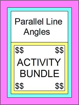 Parallel Line Angles - BUNDLE (Scav. Hunt,Part. Pairs, Pow