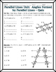 Parallel Lines - Angles Formed by Parallel Lines and Trans
