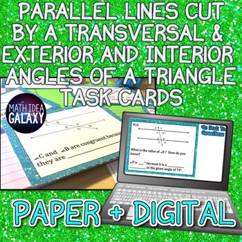 Parallel Lines Cut by a Transversal & Angles of a Triangle