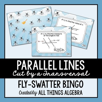 Parallel Lines Cut by a Transversal Bingo Game
