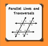 Parallel Lines, Transversals,  and their Angles Notes and