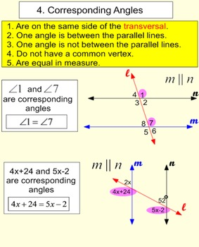 Parallel Lines and Angles 2 Student Reference Handouts & 1