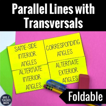 Parallel Lines with Transversals Interactive Foldable