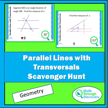 Parallel Lines with Transversals Scavenger Hunt