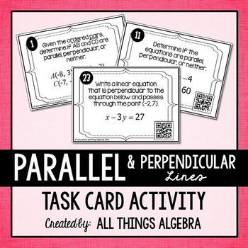 Parallel and Perpendicular Lines in the Coordinate Plane T