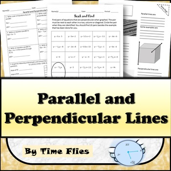Parallel and Perpendicular Lines Activities and Quiz