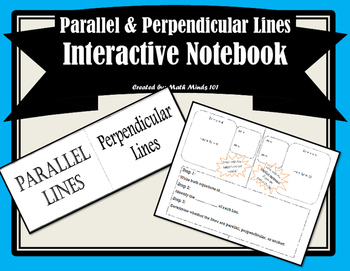 Parallel and Perpendicular Lines Foldable