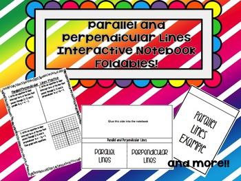 Parallel and Perpendicular Lines ISN Foldables