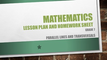 Grade 7 Parallel lines and transversals