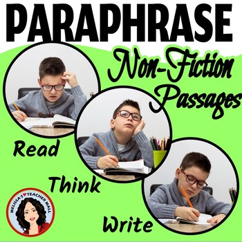 Paraphrasing Activity 3 Easy Steps to Paraphrasing