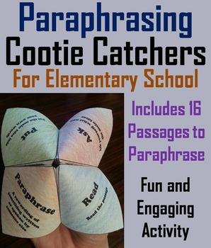 Paraphrasing Activity 5th 4th 3rd 2nd Grade Reading Comprehension