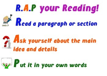 Paraphrasing & Note-taking Poster