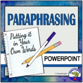 Paraphrasing - Steps to Great Paraphrasing PowerPoint