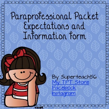 Paraprofessional Information and Expectations Forms