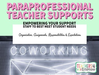 Paraprofessional Teacher Supports GUIDE