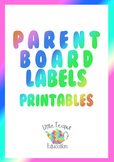 Classroom labels: Parent Board kit ~ four different designs