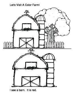 Parent Book- Let Visit A Color Farm Beginning Reader and C