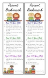 Parent Bookmark: Tips and Strategies While Reading With Yo