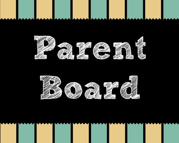 Parent Bulletin Board Complete Bundle Back to school.