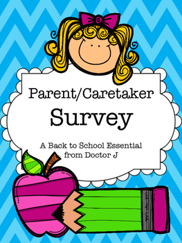 FREE Parent Caretaker Survey for Back to School