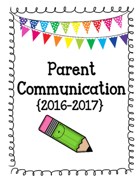 2016-2017 Parent Communication Binder