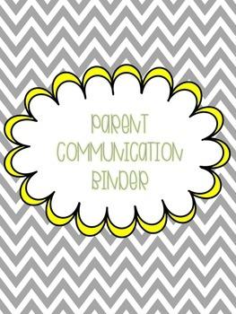 Free Parent Communication Binder Forms Slate Gray