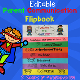 Parent Communication Flipbook (Editable) Superhero theme
