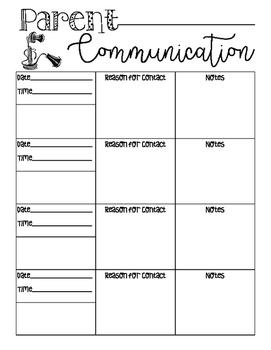 Parent Communication Form