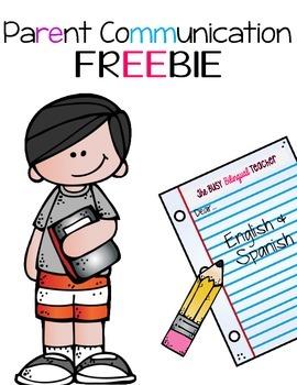 Parent Communication Freebie *English and Spanish*