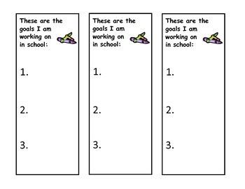 Parent Communication Goal Sheets