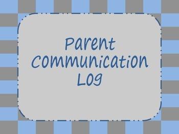 Parent Communication Log {Bundle}