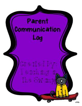 Parent Communication Log Sheet