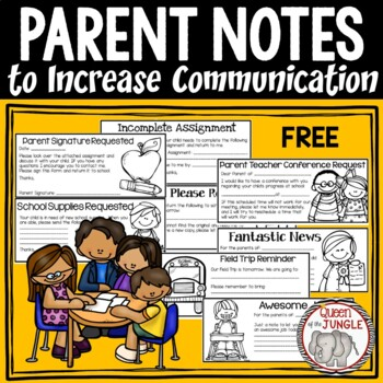 Parent Communication Notes by Queen of the Jungle